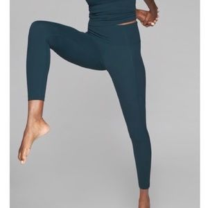 Athleta Salutation Pocket Stash Tight | Teal